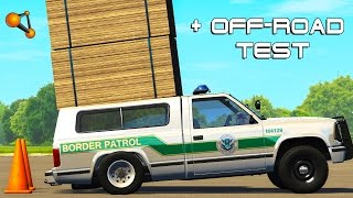 Beamng drive Suspension Test , OFF-Road Test (Tough Truck Map)