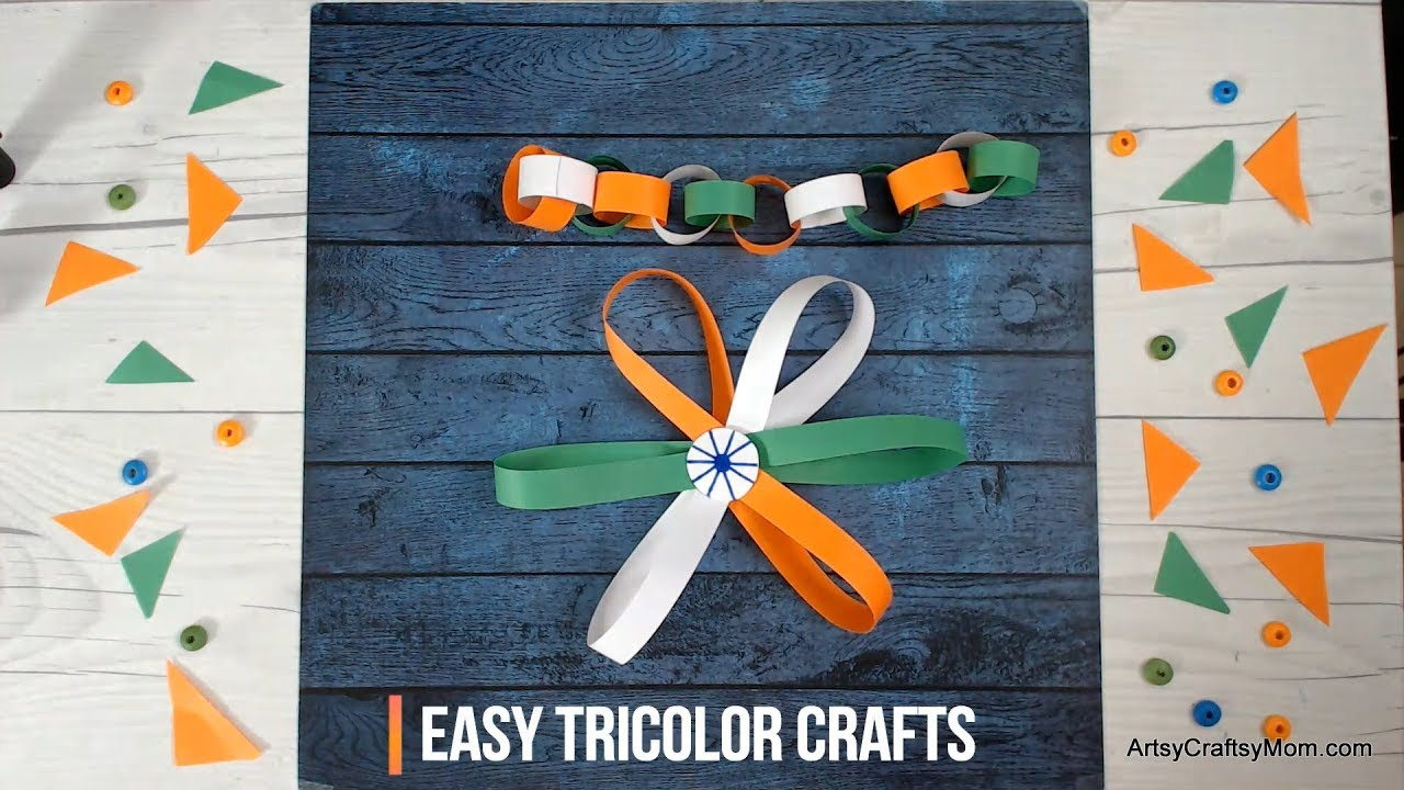 Easy Tricolor Crafts for Preschoolers   India Independence ...