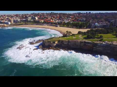 Coogee Beach Drone Flight - Massive Waves!