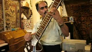 Could be an Street Musician - Zamani playing Sitar from India (but it is originally from Afganistan)
