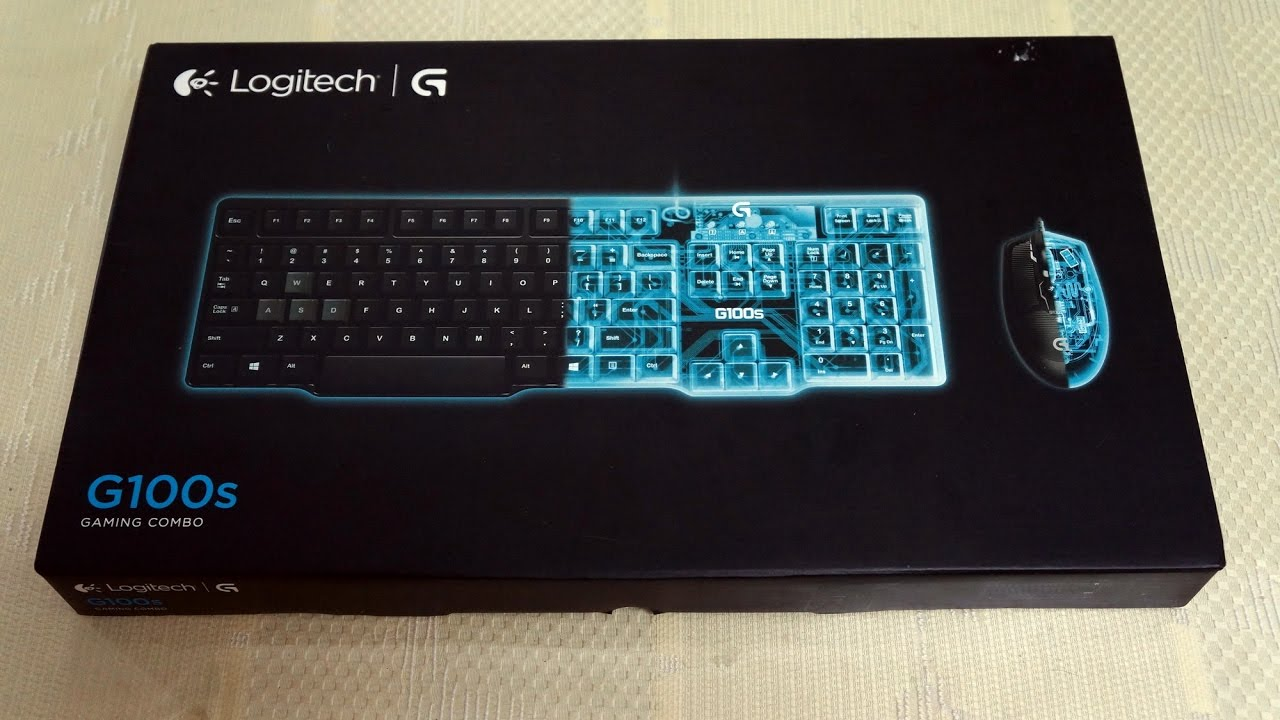 ASMR Logitech G100s gaming combo keyboard & mouse unboxing