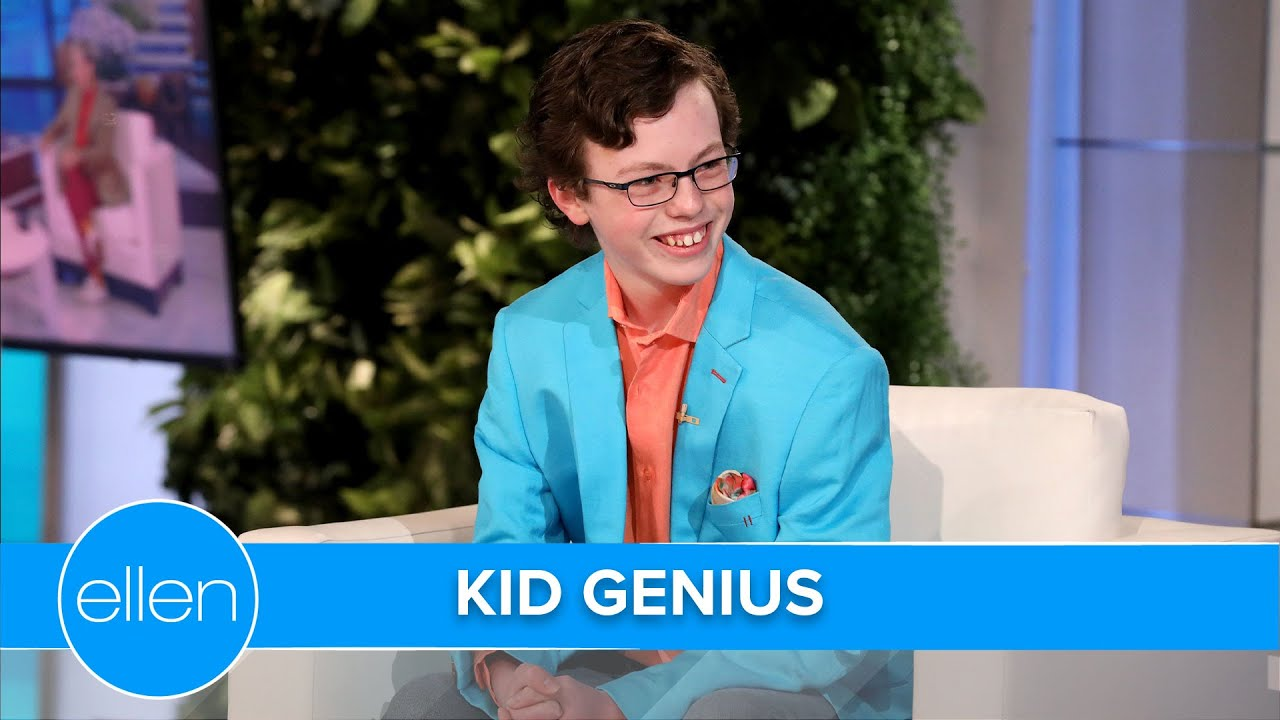 Ellen Meets Kid Genius Graduating High School & College at the Same Time