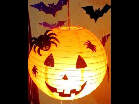 DIY How to make Halloween Jack O' lantern Decoration Hanging