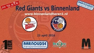 Red Giants vs Binnenland Heren 1