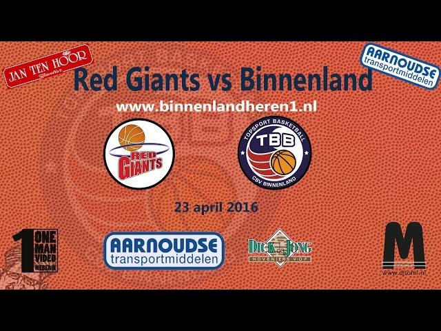 Red Giants vs Binnenland Heren 1