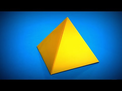 Origami Pyramid | How to Make a Paper Pyramid DIY | Easy Origami ART | Paper Crafts