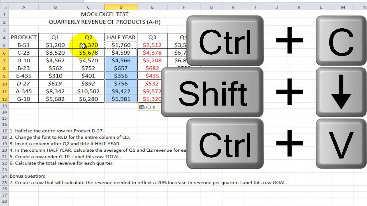 How to Pass an Excel Test