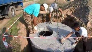 МПС Алматы. Прокладка труб канализации, установка колодцев для септика и дренажа.