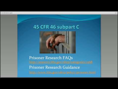 Prisoner Research 2: Considerations When a Subject Becomes a Prisoner