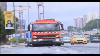 أمطار غزيرة في إسطنبول تشل حركة السير في المدينة