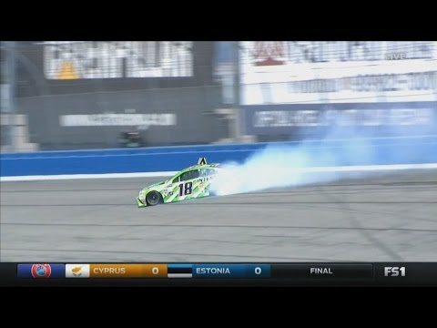 Monster Energy NASCAR Cup Series 2017. FP3 Auto Club Speedway. Kyle Busch Spins