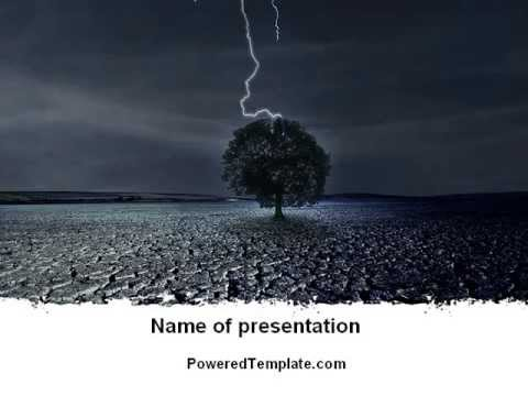 stormy weather powerpoint template by poweredtemplate com youtube