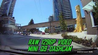 Mini Q9 Dash Cam RAW 1296P Video