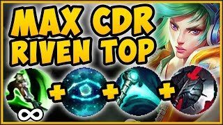 NO SKILL REQUIRED?? MAX CDR RIVEN BUILD IS 100% BRAINDEAD! RIVEN SEASON 9 TOP! - League of Legends