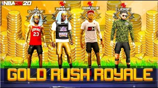i hosted a NEW DF GOLD RUSH ROYALE EVENT! Which LEGEND can get the most VC with RANDOMS? (NBA2K20)