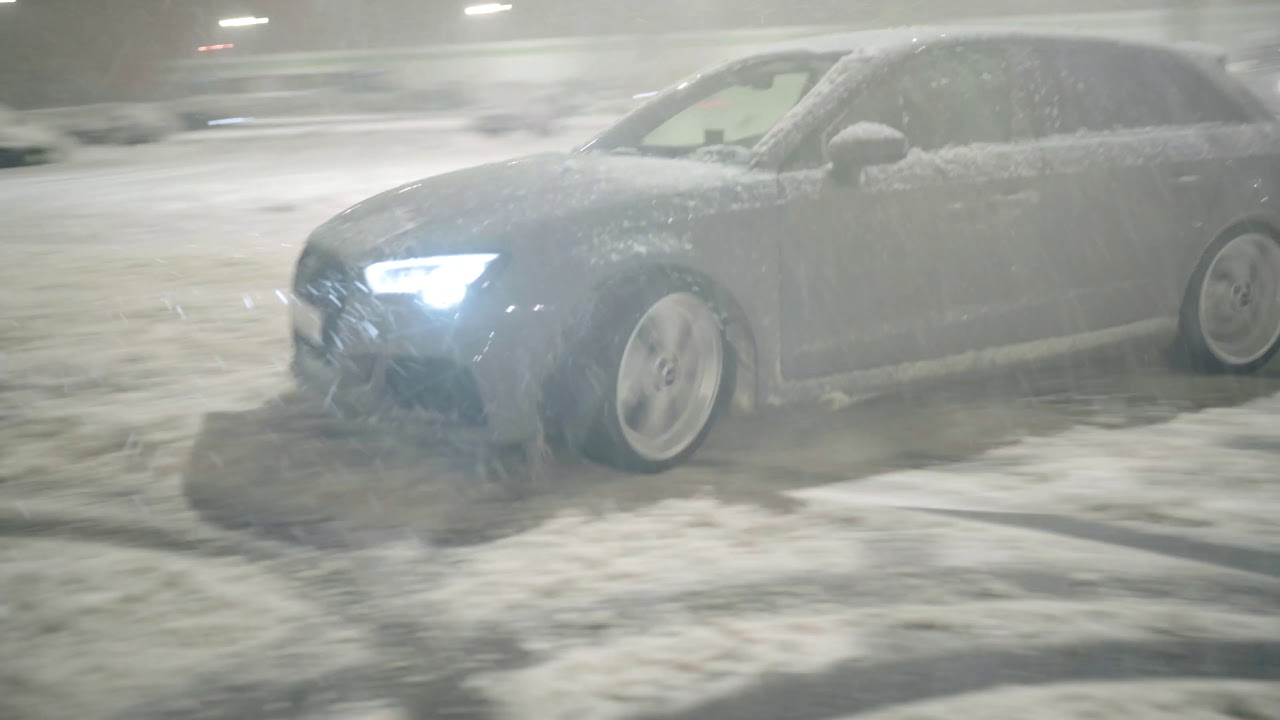 650 HP Audi RS3 RCP Exhausts DRIFTING DONUTS IN SNOW!!!