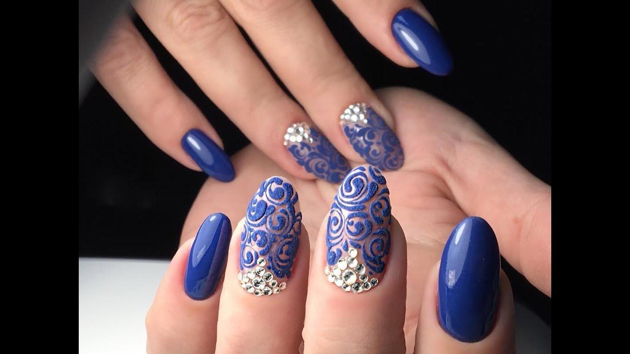 Victorian Style Nail Art - Baroque Nails - YouTube
