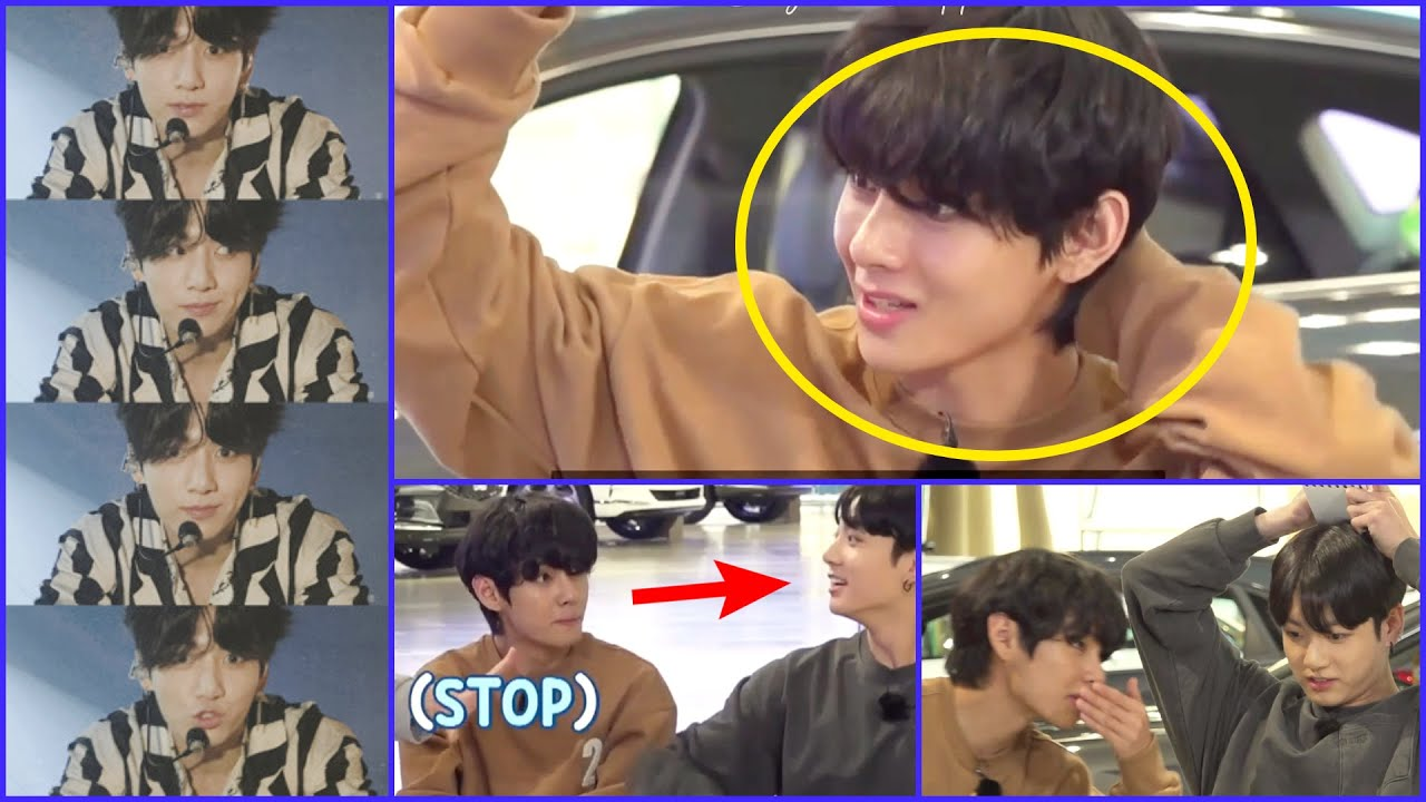 tae got shy? what happens when vkook are next to e/o | Taekook moments update |