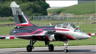 Crazy French Air Force Rafale at Cambridge Airport