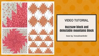 Video tutorial: Buzzsaw quilt block and Delectable mountains quilt block