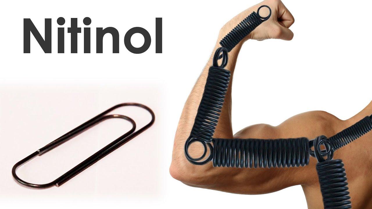 Nitinol - Metallic Muscles with Shape Memory. - YouTube