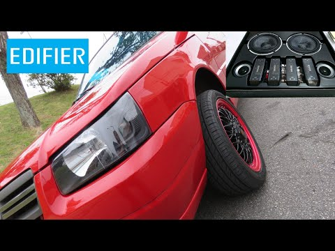 Unboxing (desembalando) EDIFIER NF651A + Projeto Tuning Fiat Uno Mille 2010.