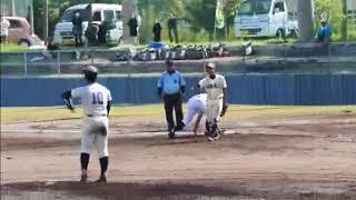 全国離島交流中学生野球大会準決勝の様子