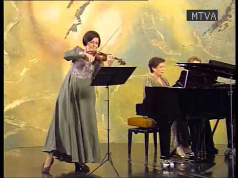 Cesar Franck:A-dúr hegedű zongora szonáta II.tétel- Prunyi Ilona (zongora), Perényi Eszter (hegedű)
