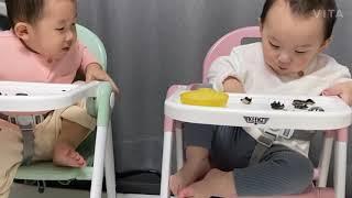 아기 먹방 김스낵