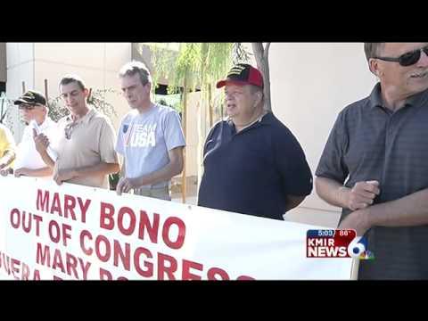 Veterans Protest Congresswoman Mary Bono Mack