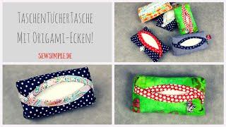 TaschenTücherTasche mit Origami Ecken und Schwung