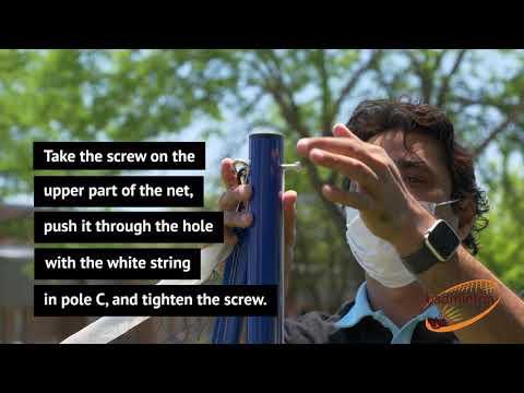 Installation instructions for Badminton Warehouse's Badminton Set
