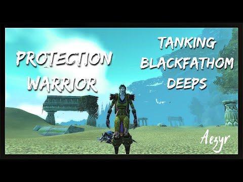 WoW:Classic | Tanking Blackfathom Deeps as Prot Warrior [ BFD ]| Aezyr