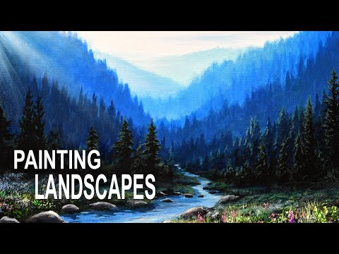 Painting A Realistic Landscape with Acrylics | Paint Like A Pro: Episode #1