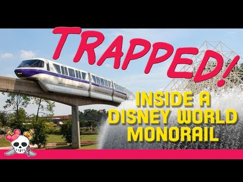 TRAPPED on Broken Monorail Blue at Walt Disney World!!!