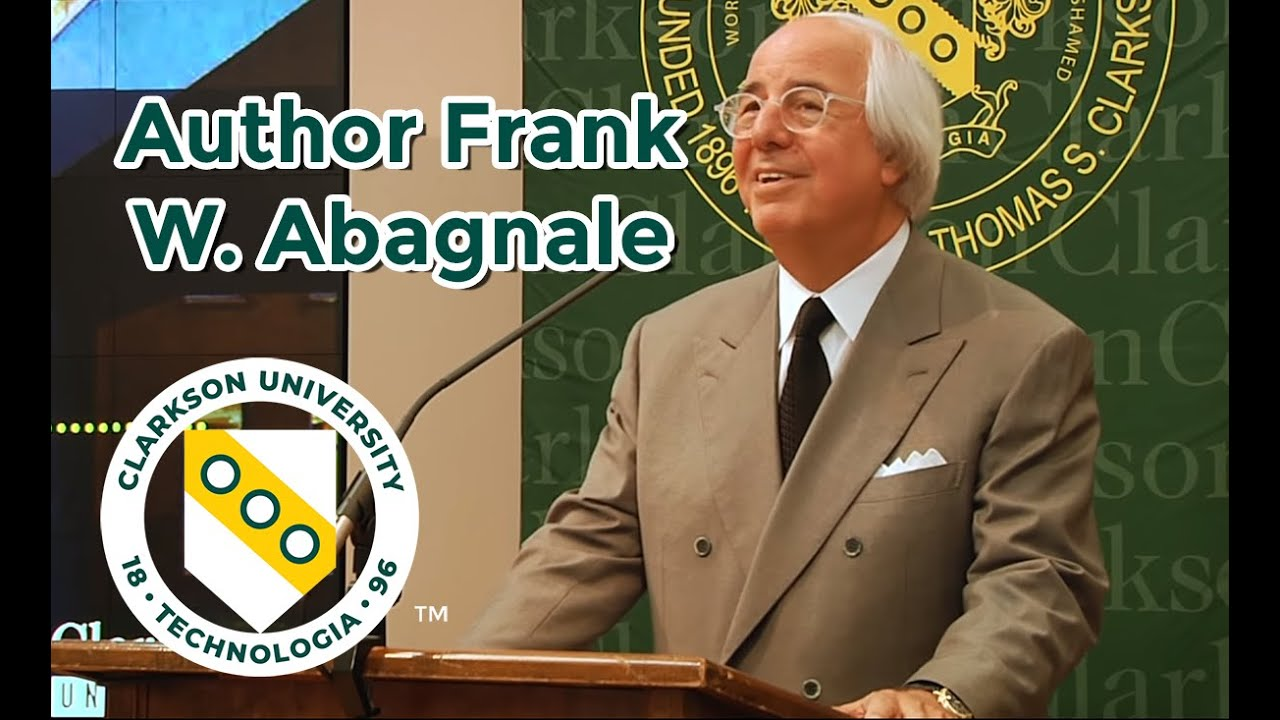 catch me if you can author frank w abagnale speaks at clarkson