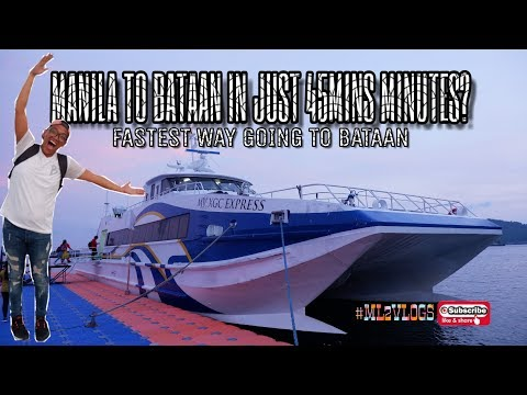 FERRY MANILA TO BATAAN IN JUST 45MINS?  ESPLANADE SEASIDE TERMINAL  #ML2VLOGS028