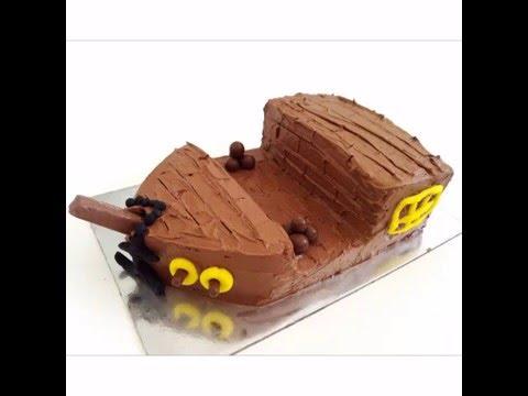 How to Make a Pirate Ship Birthday Cake YouTube