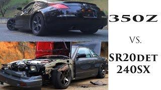 what its really like 350z vs sr20det 240sx