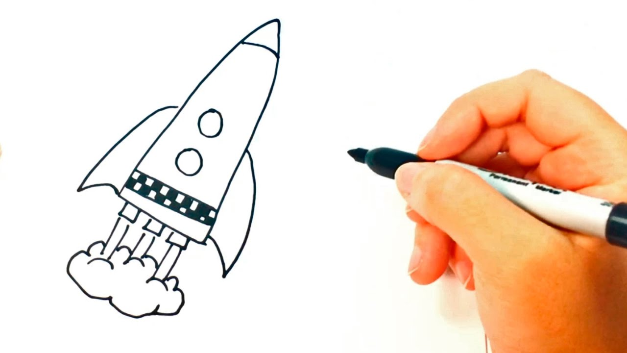 How to draw a Space Rocket | Space Rocket Easy Draw ...