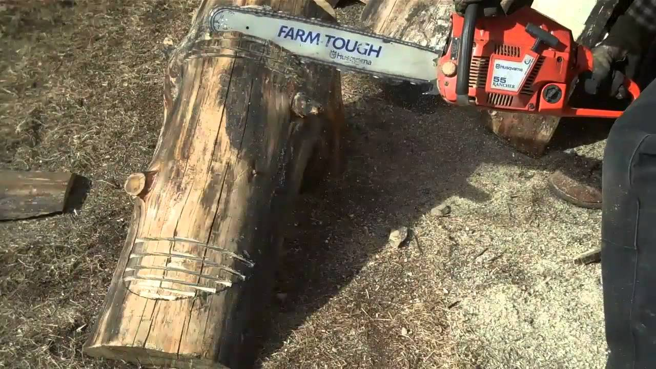 How To Cut And Shape Log Benches By Mitchell Dillman Youtube