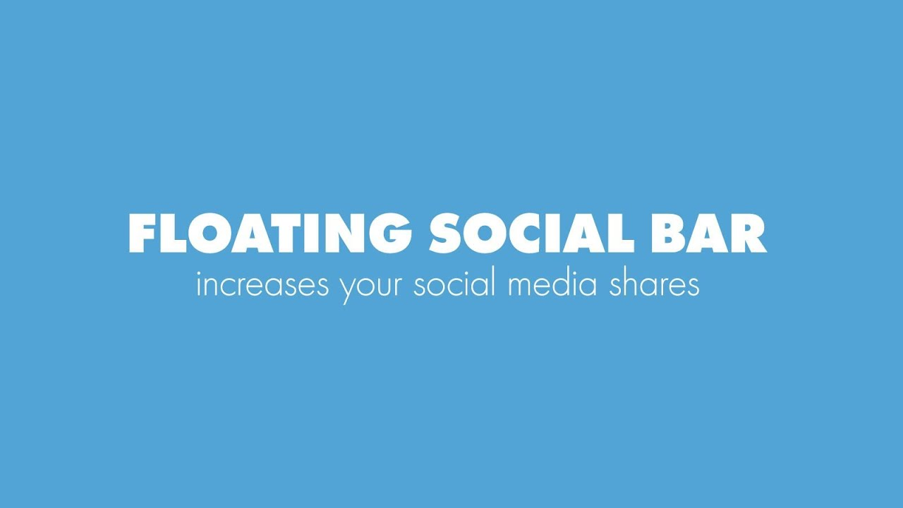 must have wordpress plugins - floating social bar