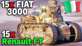 1 TIERY W WOT | 15x Fiat 3000 vs 15x Renault FT - World of Tanks