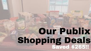 My Publix Shopping Haul: Spent $101, Saved $265!