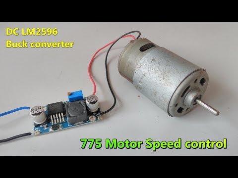 775 Motor speed controller using LM2596 DC-DC  Buck converter | Adjustable step-down module