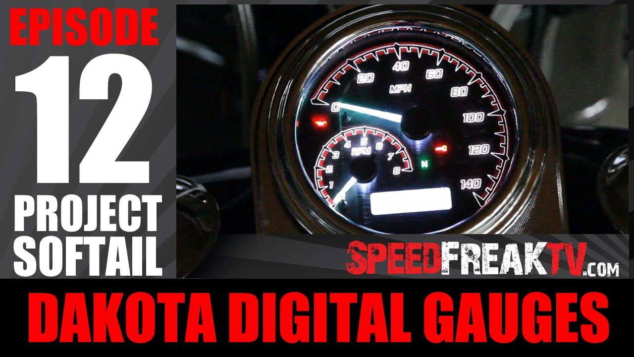 Project Softail Ep12 Dakota Digital Gauges Sppedfreaktv Youtube Speedometer Wiring Diagram