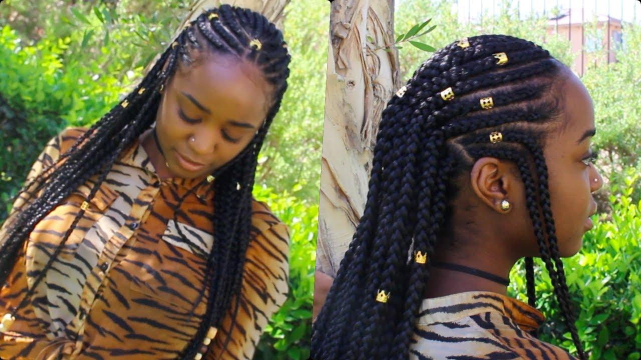 Fulani Braids Amp Beads Natural Hair L Amp K Youtube