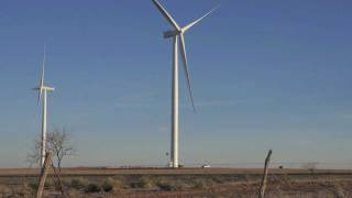 Large Wind Energy Power Turbine Farm in Texas [High Definition]