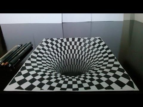 como-desenhar-um-buraco-em-3d-(drawing-3d-hole)