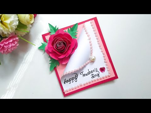 Handmade Teachers day card making idea // DIY Teacher's Day card
